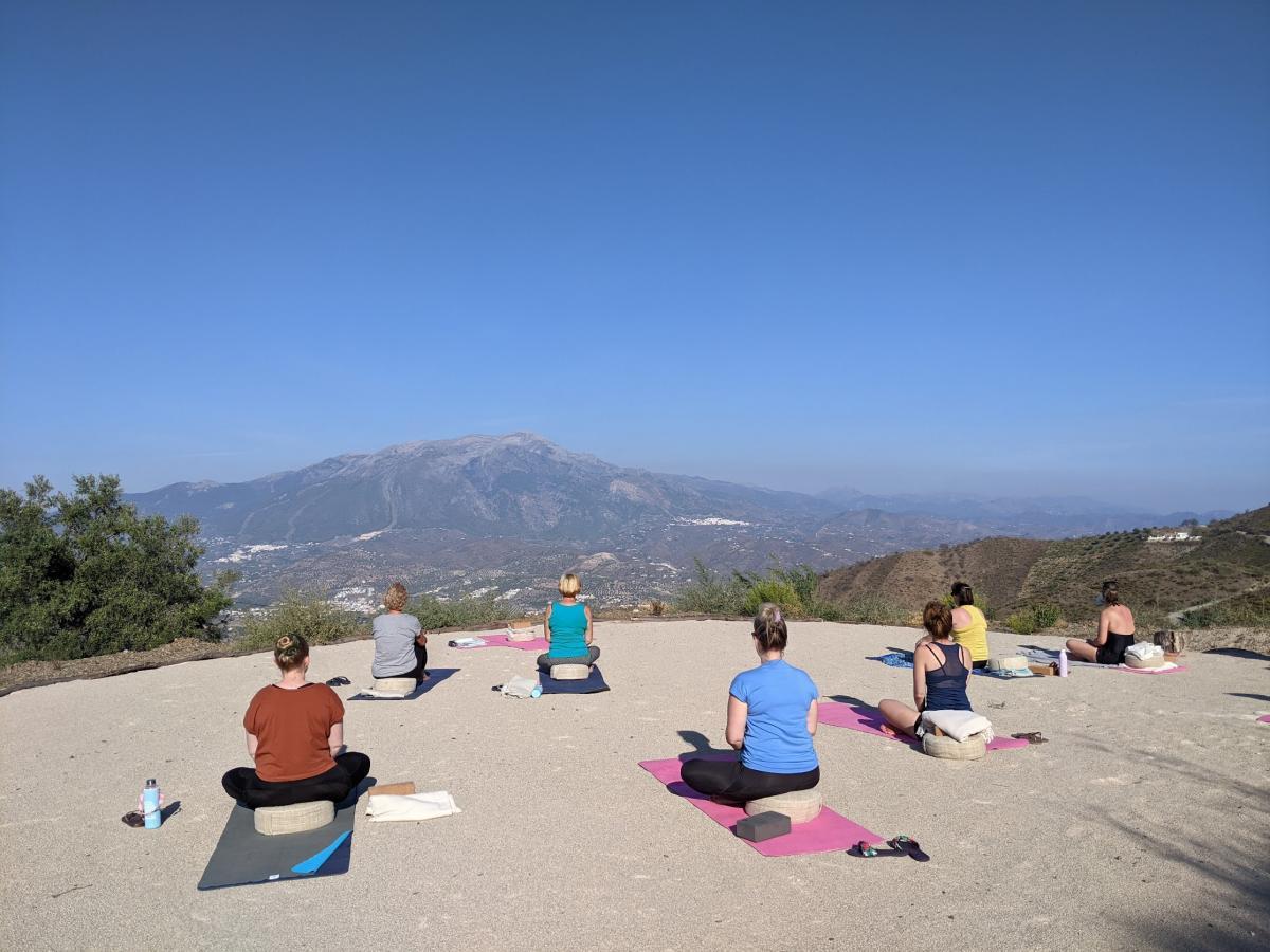 Yoga foto buiten Spanje